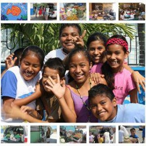 A group of happy kids from Casa Para Ninos del Pacifica