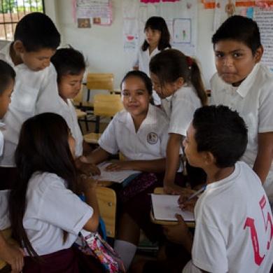Ninos - in new classroom