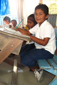 Ninos - sitting in classroom