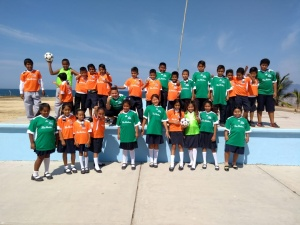 Soccer uniforms for the children!