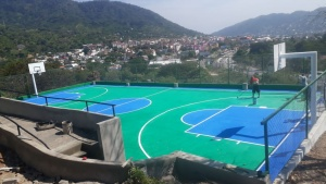 New basketaball court